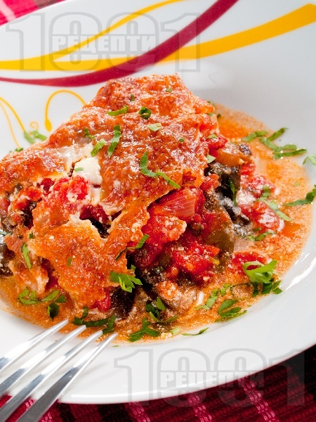 Огретен от домати и патладжани - снимка на рецептата